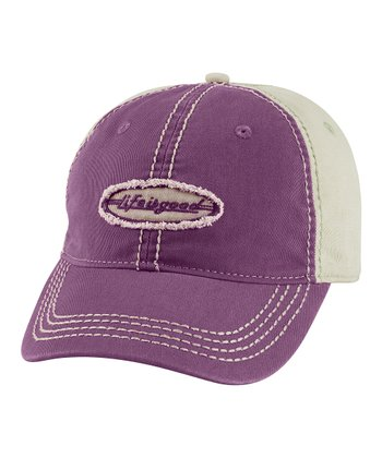 Plum Color Block Choice Baseball Cap - Women