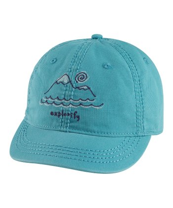 Simply Blue Mountain Shortie Organic Baseball Cap - Women