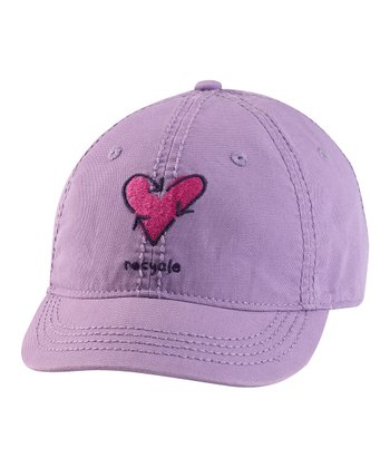 Soft Plum 'Recycle' Heart Shortie Organic Baseball Cap - Women