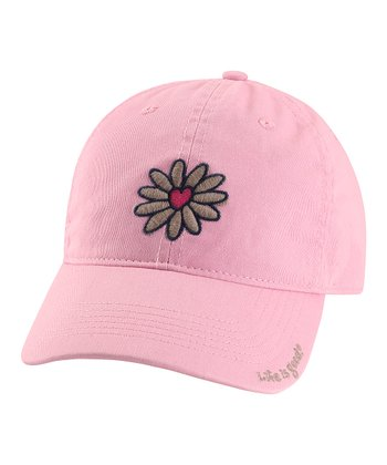 Pink Heart Flower Chill Baseball Cap