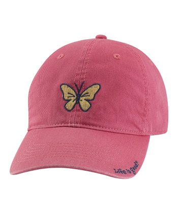 Dusty Pink Butterfly Chill Baseball Cap