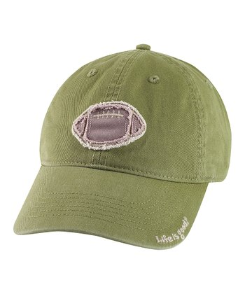 Green Tattered Football Chill Baseball Cap