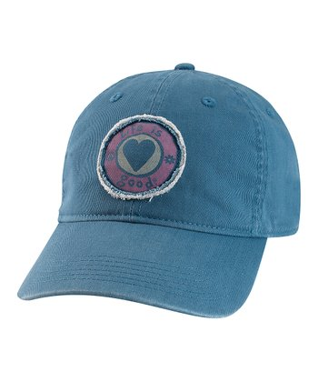 Blue Tattered Heart Chill Baseball Cap
