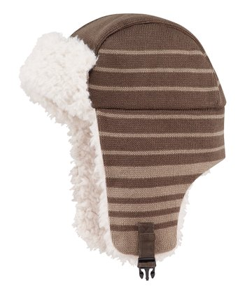 Dark Brown Elmer Fuzz Trapper Hat - Men