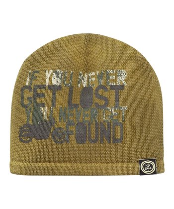 Simply Dark Green Distressed Beanie - Men