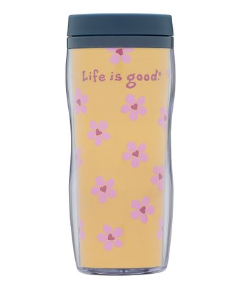 Heart Flowers Acrylic Travel Mug
