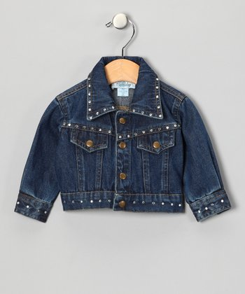 Denim Crystal Jacket - Infant & Toddler
