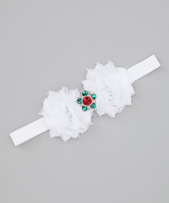 White Christmas Star Headband