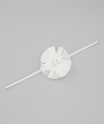 Lil Miss Sweet Pea Off-White Twirl Headband