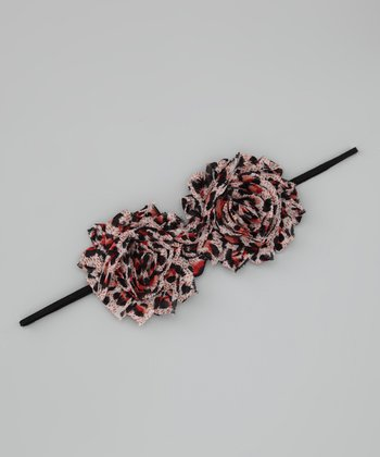 Lil Miss Sweet Pea Black & Rust Cheetah Headband