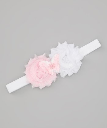 Lil Miss Sweet Pea Pink Butterfly Headband