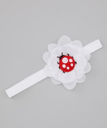 Lil Miss Sweet Pea Red & Black Lady Bug Headband