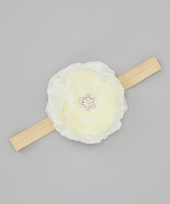 Lil Miss Sweet Pea Ivory Flower Headband