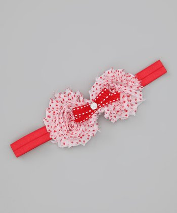 Red & White Holiday Polka Dot Headband