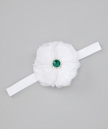 Lil Miss Sweet Pea White Holiday Sparkle Headband