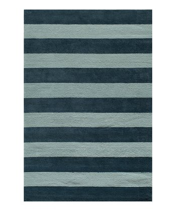 Blue Cabana Stripe Rug