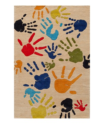 Ivory Finger Paint Rug
