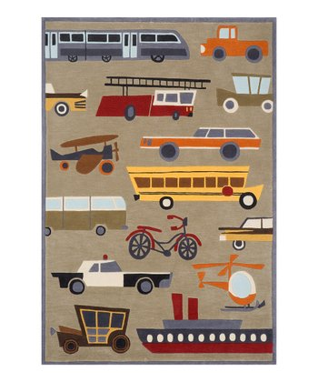 Concrete Traffic Rug