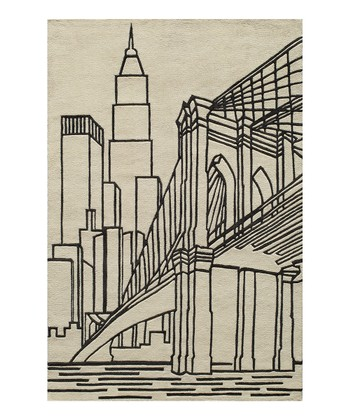 Ivory Brooklyn Bridge Rug