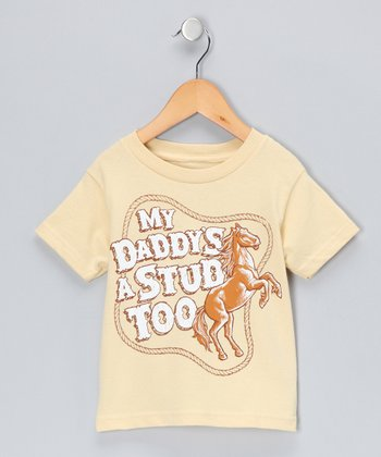 Gold 'My Daddy's a Stud' Tee - Toddler & Kids