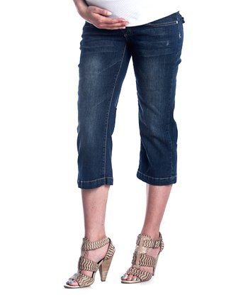 Denim Maternity Capri Pants
