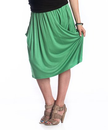 Green Kerianne Maternity Skirt