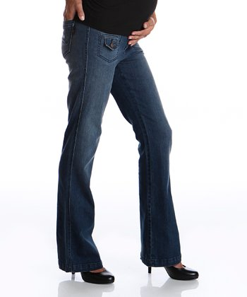Denim Maternity Wide-Leg Jeans