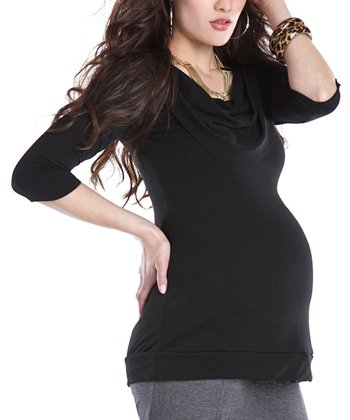 Black Kristin Maternity Top