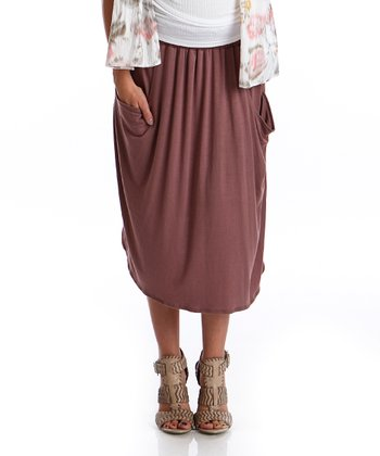 Light Brown Kerianne Maternity Skirt