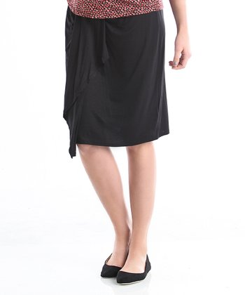 Black Mya Maternity Skirt