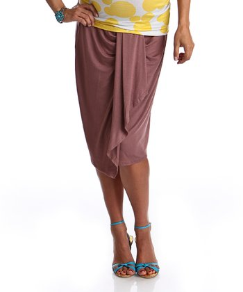 Light Brown Mya Maternity Skirt
