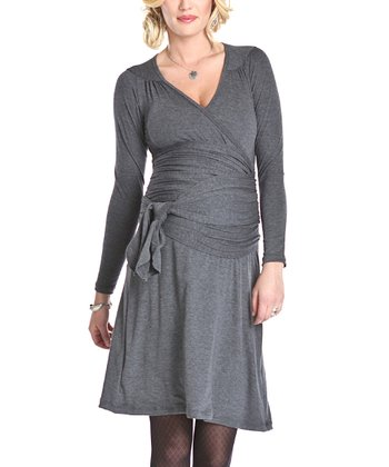 Charcoal Reese Maternity Dress