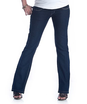 Blue Double Dark Maternity Jeans