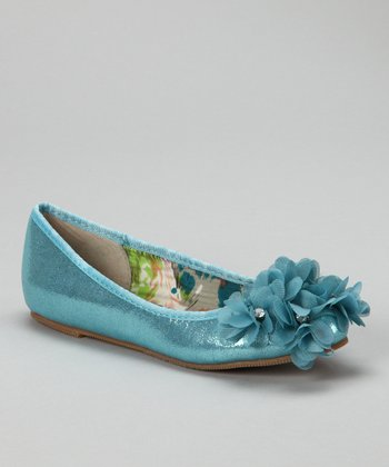 Blue Jovie-9 Flower Flat