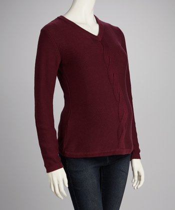 Burgundy Maternity Sweater