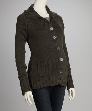 Hunter Green Maternity Cardigan