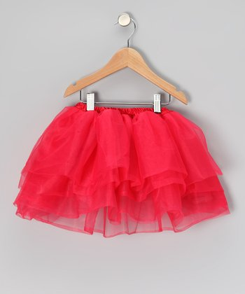 Red Five-Layer Tutu - Toddler