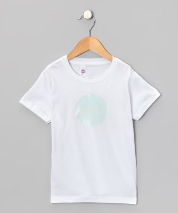 Aqua & Yellow Personalized Tee - Kids