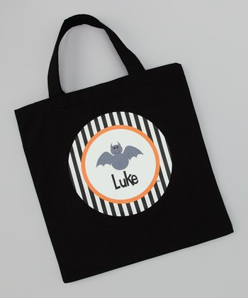 Black Bat Personalized Tote