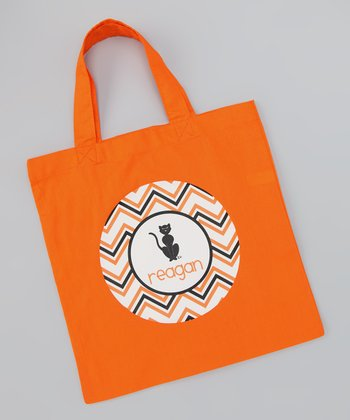 Orange Cat Personalized Tote