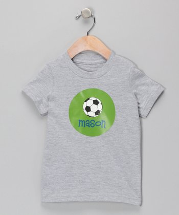 Gray Soccer Personalized Tee - Boys