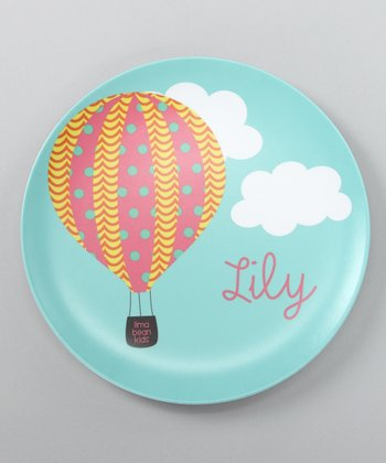 Hot Air Balloon Personalized Plate