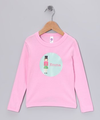 Brown-Haired Nutcracker Personalized Tee - Girls