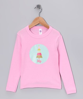 Pink Patchwork Tree Personalized Tee - Infant, Toddler & Girls