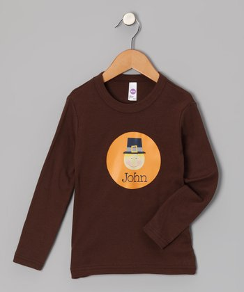 Brown Pilgrim Boy Tee - Infant, Toddler & Boys