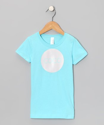 Turquoise & Pink Personalized Tee - Girls