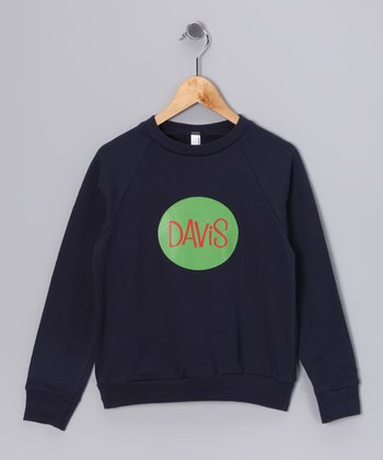 Navy & Green Personalized Sweatshirt - Toddler & Boys