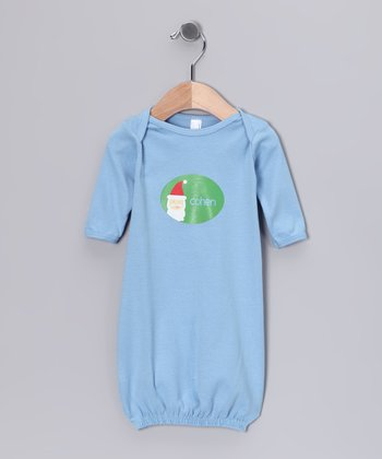 Blue Santa Personalized Gown - Infant