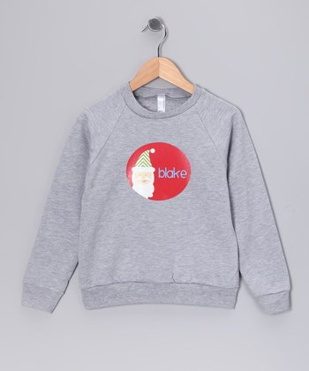 Gray Santa Personalized Sweatshirt - Toddler & Boys