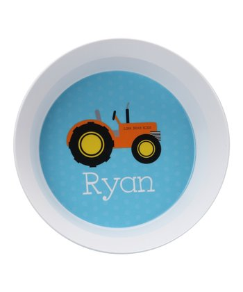 Tractor Personalized Bowl